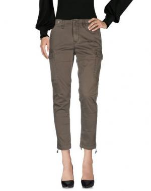 Повседневные брюки HUDSON. Цвет: зеленый-милитари