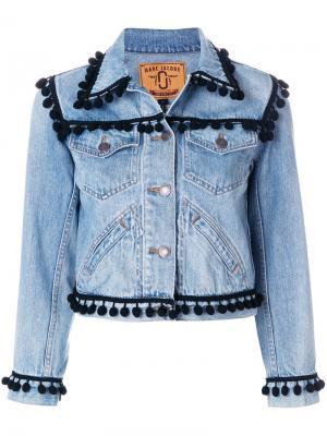 Куртка с помпонами Marc Jacobs. Цвет: синий