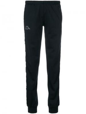 Зауженные спортивные брюки Kappa. Цвет: чёрный