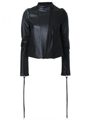 Плетеная куртка Dion Lee. Цвет: чёрный