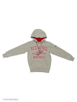 Толстовка NHL Red Wings Atributika & Club. Цвет: серый