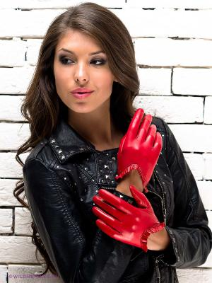 Перчатки Eleganse. Цвет: красный