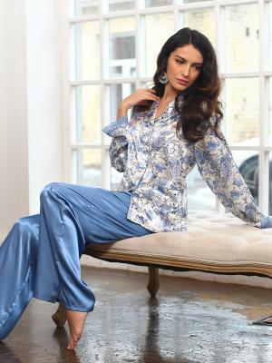 Пижама MIA-AMORE. Цвет: белый, голубой