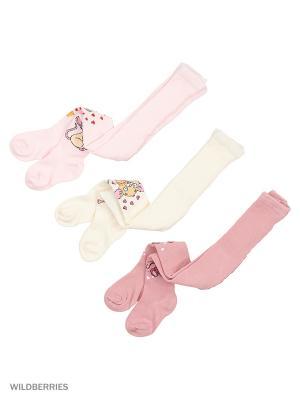 Колготки детские (3 шт) PERA MAYA. Цвет: бордовый, розовый, кремовый