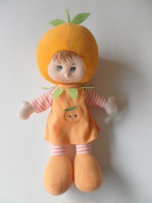 Куклы Фрукты Девочка Апельсинчик 46см Склад Уникальных Товаров. Цвет: оранжевый