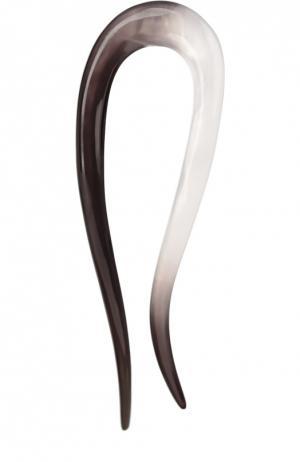 Заколка из пластика с градиентом Colette Malouf. Цвет: черно-белый