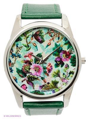 Часы Садовый гобелен Mitya Veselkov. Цвет: зеленый