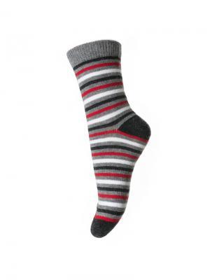 Носки PlayToday. Цвет: серый, белый, красный