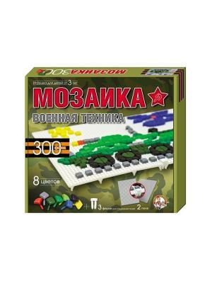 Мозаика фиг/8 цв/300 эл/2 поля/военная техника Десятое королевство. Цвет: оливковый, белый, малиновый
