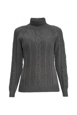 Джемпер из шерсти с шелком 136701 Sweet Sweaters. Цвет: серый