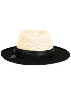 Фетровая шляпа The Kooples. Цвет: телесный