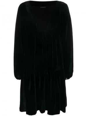 Расклешенное платье с запахом Plein Sud. Цвет: чёрный