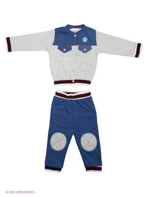 Комплект одежды Babycollection. Цвет: белый, синий