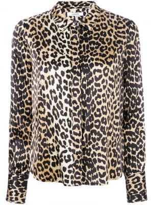 Leopard print shirt Ganni. Цвет: коричневый
