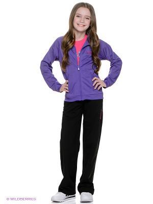 Спортивный костюм Reebok. Цвет: черный, фиолетовый