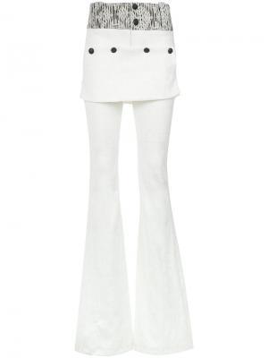 Jacquard flared trousers Andrea Bogosian. Цвет: белый