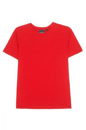 Хлопковая футболка BLANK.MOSCOW. Цвет: красный