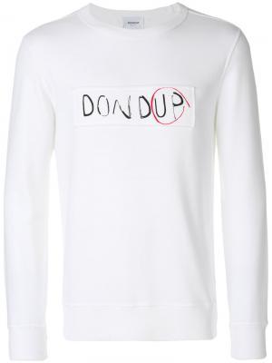 Толстовка с логотипом Dondup. Цвет: белый