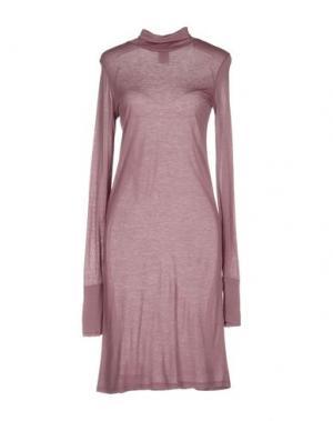 Короткое платье DEVOTION. Цвет: светло-коричневый