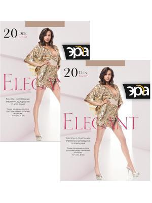 Колготки Elegant 20, 2 пары ЭРА.. Цвет: бронзовый