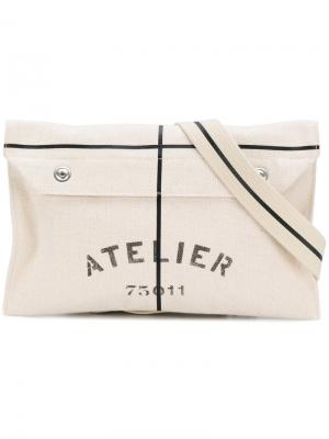 Клатч Atelier Maison Margiela. Цвет: телесный