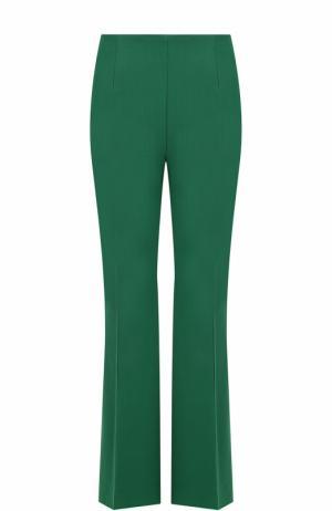 Шерстяные расклешенные брюки со стрелками Marni. Цвет: зеленый