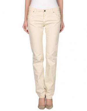 Джинсовые брюки RE-HASH. Цвет: бежевый