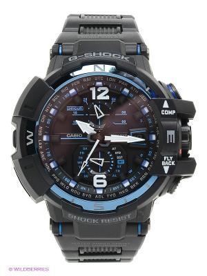Часы G-SHOCK GW-A1100FC-1A CASIO. Цвет: черный, синий