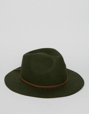 Brixton Шляпа Wesley. Цвет: зеленый
