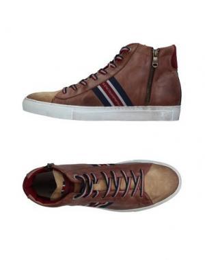 Высокие кеды и кроссовки D'ACQUASPARTA. Цвет: хаки
