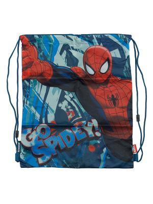 Сумка-рюкзак для обуви Spider-Man. Цвет: синий, красный