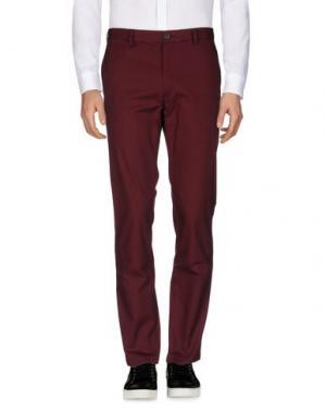 Повседневные брюки CLUB MONACO. Цвет: красно-коричневый
