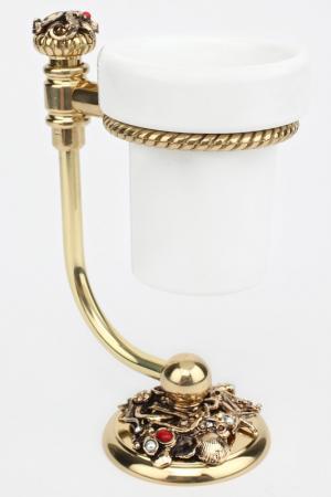 Стакан для ванной комнаты I Pavoni. Цвет: золотой