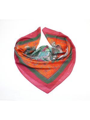 Платок Dolci Capricci. Цвет: зеленый, оранжевый