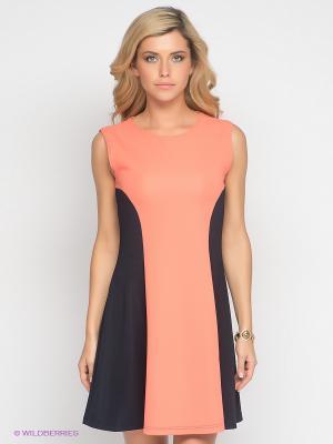 Платье Lussotico. Цвет: коралловый, темно-синий