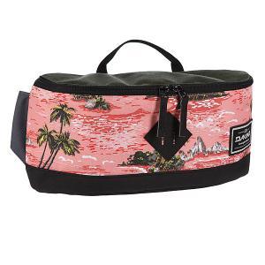 Сумка поясная  Crescent Hip Pack 10l Aloha Dakine. Цвет: зеленый,розовый