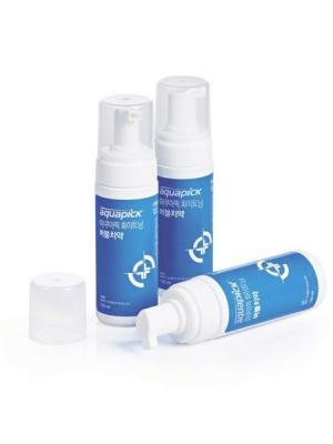 Отбеливающая зубная пенка AB-K150 с дозатором, 150мл.,Aquapick Aquapick. Цвет: черный, белый