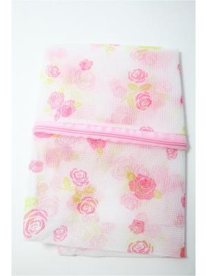 Мешок для стирки белья и носков на замке KONONO. Цвет: розовый