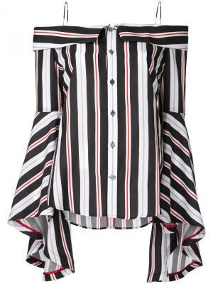 Stripe off shoulder blouse G.V.G.V.. Цвет: чёрный