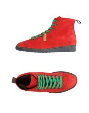 Высокие кеды и кроссовки PÀNCHIC. Цвет: красный