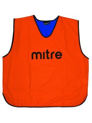 Накидка тренировочная двусторонняя MITRE. Цвет: синий, оранжевый