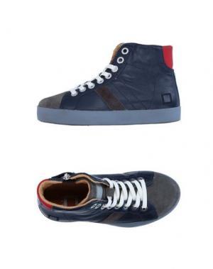 Высокие кеды и кроссовки D.A.T.E. KIDS. Цвет: синий