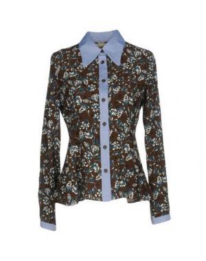 Pубашка GARAGE NOUVEAU. Цвет: темно-коричневый