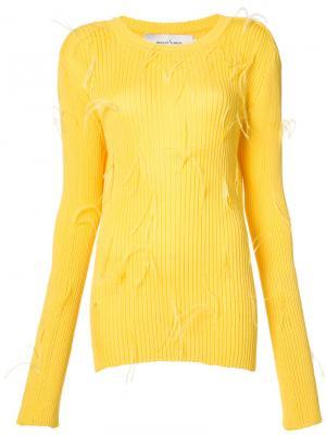 Ребристый свитер Marquesalmeida Marques'almeida. Цвет: жёлтый и оранжевый