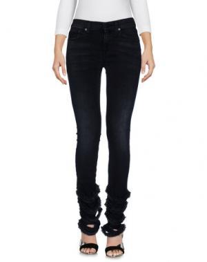 Джинсовые брюки HTC. Цвет: стальной серый