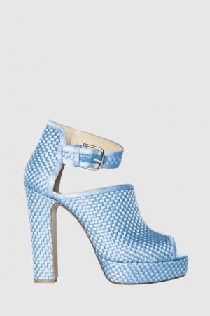 Комбинированные босоножки Christa Bionda Castana. Цвет: голубой