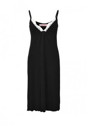Сорочка ночная TrendyAngel. Цвет: черный