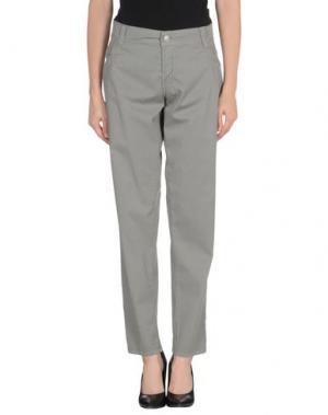 Повседневные брюки 9.2 BY CARLO CHIONNA. Цвет: серый