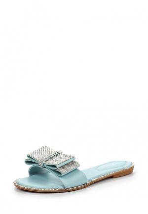 Шлепанцы Amazonga. Цвет: голубой