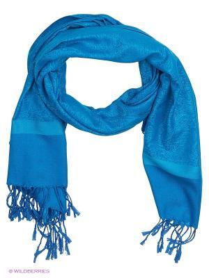 Палантин Vita pelle. Цвет: голубой